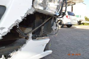 LKW Rahmen Schaden nach Unfall - Gutachten benötigt - Gutachter Rossrucker vor Ort in Heidelberg